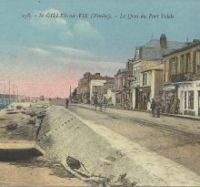 St-Gilles-sur-Vie, le quai du Port Fidèle.