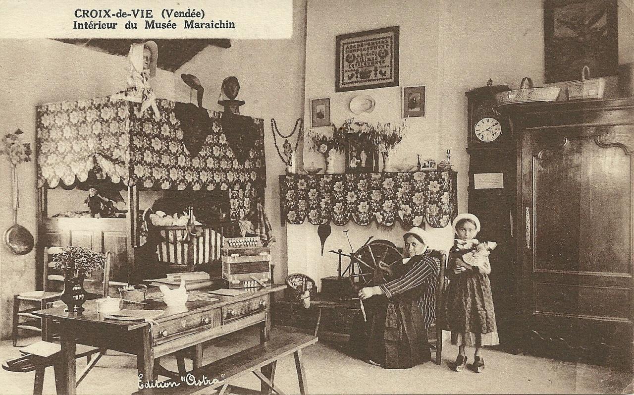 Croix-de-Vie, intérieur du musée maraichin.