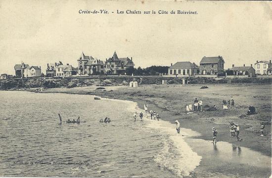 Croix-de-Vie, les chalets sur la côte de Boisvinet.