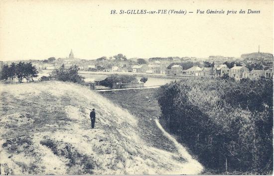 St-Gilles-sur-Vie, vue générale prise des dunes