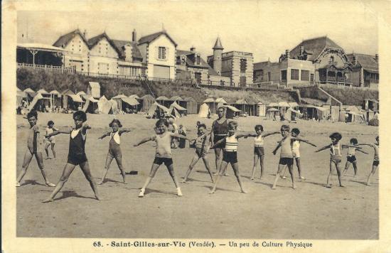 St-Gilles-sur-Vie, un peu de culture physique.