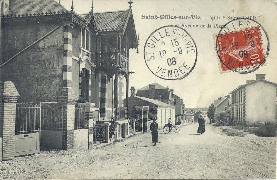 St-Gilles-sur-Vie, l'avenue de la plage, villa Ste Odile.