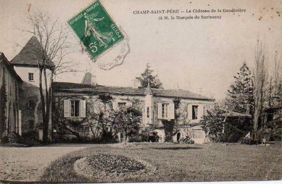 Champ-St-Père, le château de la Gaudinière.