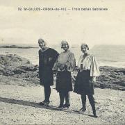 St-Gilles-Croix-de-Vie, trois belles sablaises.