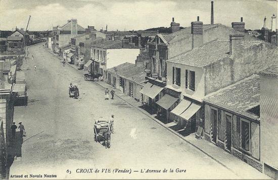 Croix-de-Vie, l'avenue de la gare.
