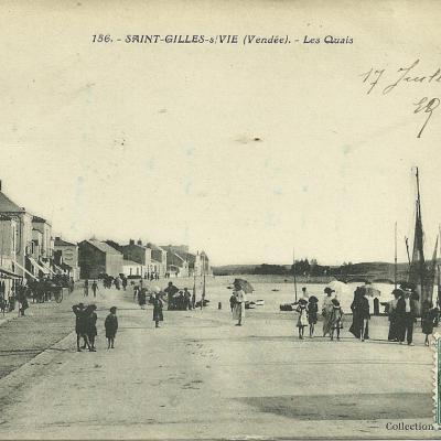 Le port et les quais de Saint-Gilles-sur-Vie