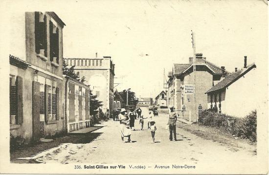 St-Gilles-sur-Vie, l'avenue Notre-Dame.