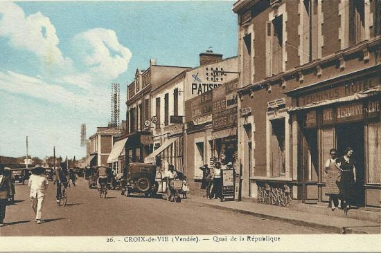 Croix-de-Vie, le quai de la République.