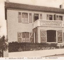 Sion-sur-l'Océan, pension de famille Les Buissonnets.