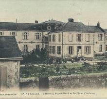 St-Gilles-sur-Vie, l'hôpital, façade Nord et pavillon d'isolement.