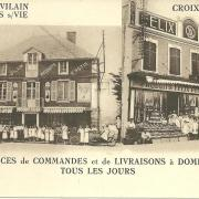 Deux magasins Félix Potin.