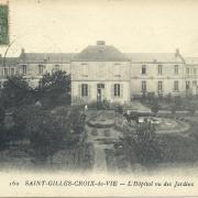St-Gilles-Croix-de-Vie, l'hôpital des jardins.