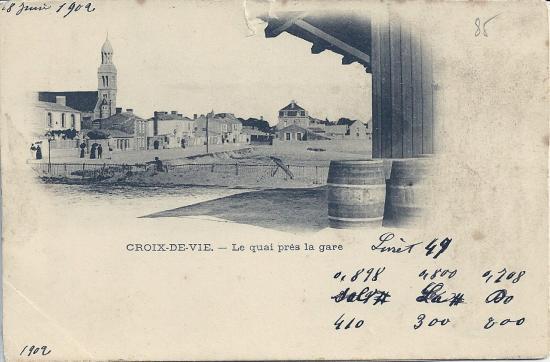 Croix-de-Vie, le quai près de la gare.