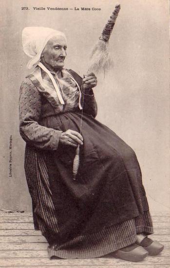 Vieille vendéenne, la Mère Coco.