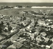 St-Gilles-sur-Vie, vue générale aérienne.
