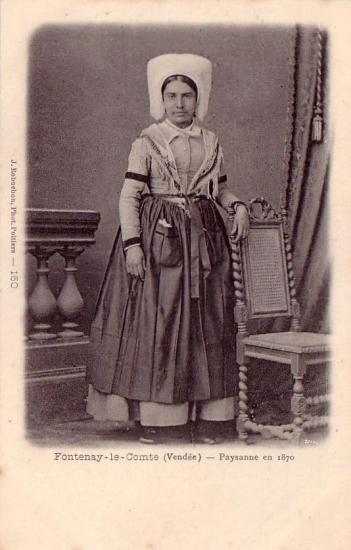 Fontenay-le-Comte, paysanne en 1870.