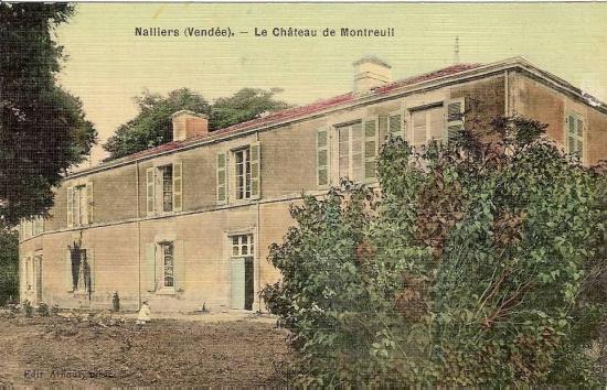 Nalliers, le château de Montreuil.