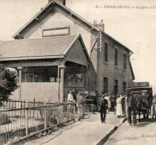 Croix-de-Vie, la gare à l'arrivée du train.