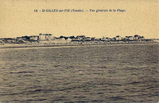 St-Gilles-sur-Vie, vue générale de la plage.