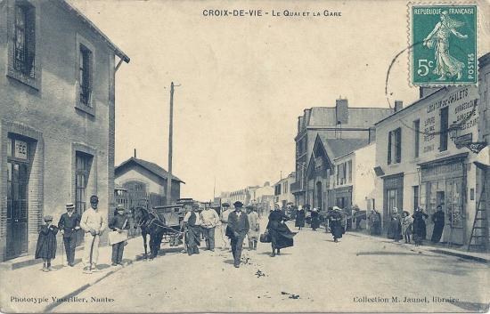 Croix-de-Vie, le quai et la gare.