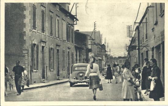 Croix-de-Vie, rue de la Paix (rue piétonne).