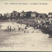 Croix-de-Vie, la plage et les chalets.