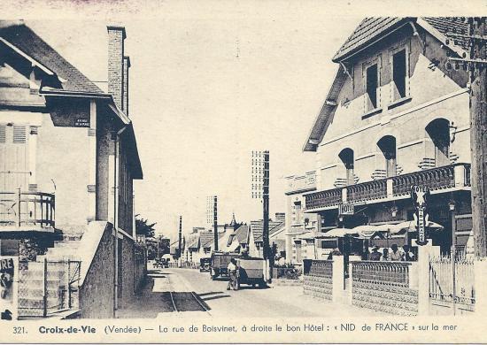 Croix-de-Vie, la rue de Boisvinet.