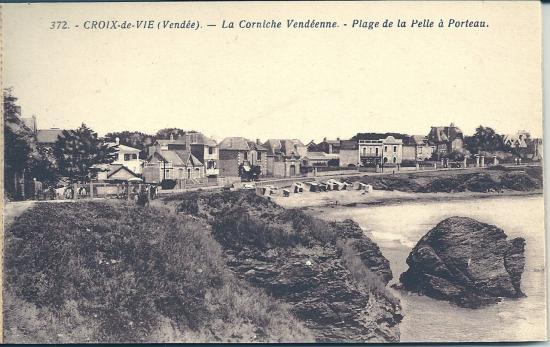Croix-de-Vie, la corniche vendéenne, plage de la Pelle à Porteau.