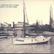 Croix-de-Vie, le quai et la tour rouge.