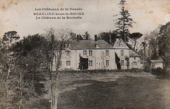 beaulieu-sous-la-Roche, château de La Rochette.
