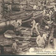 Croix-de-Vie, débarquement de la sardine.