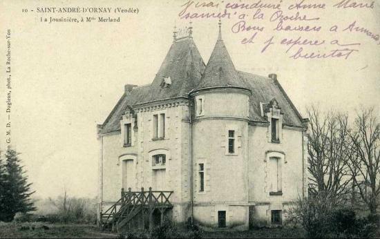 St-André-d'Ornay, château La Jousinière.