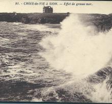 Croix-de-Vie à Sion, effet de grosse mer.