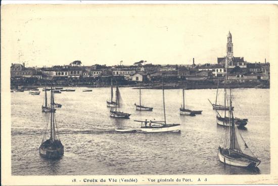 Croix-de-Vie, vue générale du port.
