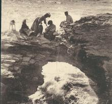 Croix-de-Vie, le trou du diable à marée haute.