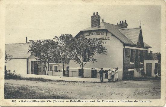 St-Gilles-sur-Vie, café-restaurant La Pierrette, pension de famille.