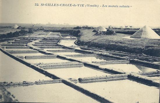 St-Gilles-Croix-de-Vie, les marais salants.