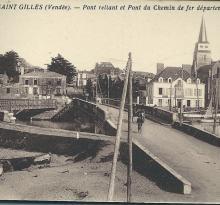 St-Gilles-sur-Vie, pont reliant et pont de chemin de fer.