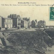 Croix-de-Vie, villas sur la côte.