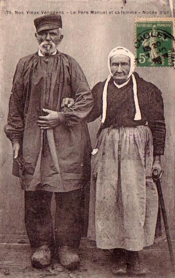 Nos vieux vendéens, le Père Manuel et sa femme.