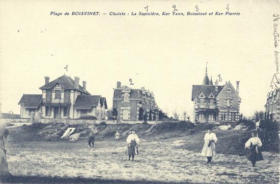 croix-de-Vie, plage de Boisvinet, chalets.