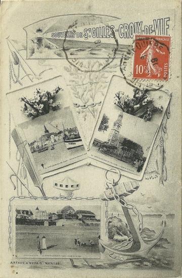 St-Gilles-Croix-de-Vie, carte multivues.