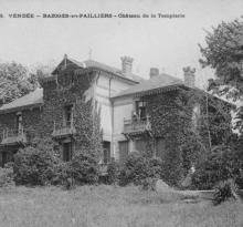 Bazoges-en-Paillers, château de la Templerie.