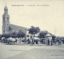 Croix-de-Vie, le marché, place de l'église.