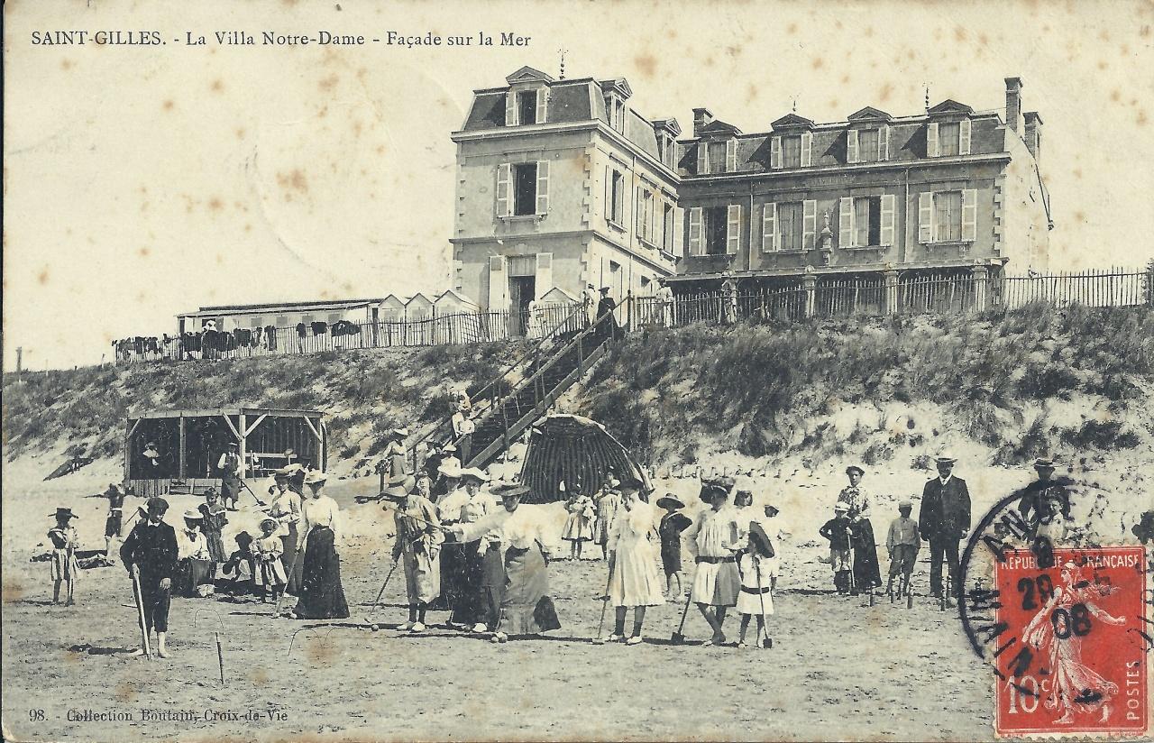 St-Gilles-sur-Vie, la villa Notre-Dame, façade sur la mer.