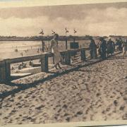 St-Gilles-sur-Vie, la nouvelle digue le long de l'océan.