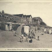 St-Gilles-croix-de-Vie, la plage et le casino.