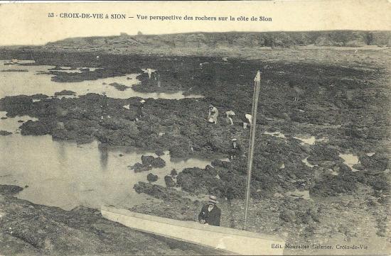 Croix-de-Vie, vue des rochers.
