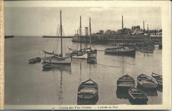 Croix-de-Vie, l'entrée du port.