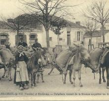 Croix-de-Vie, paludiers venant acquitter les droits du sel.
